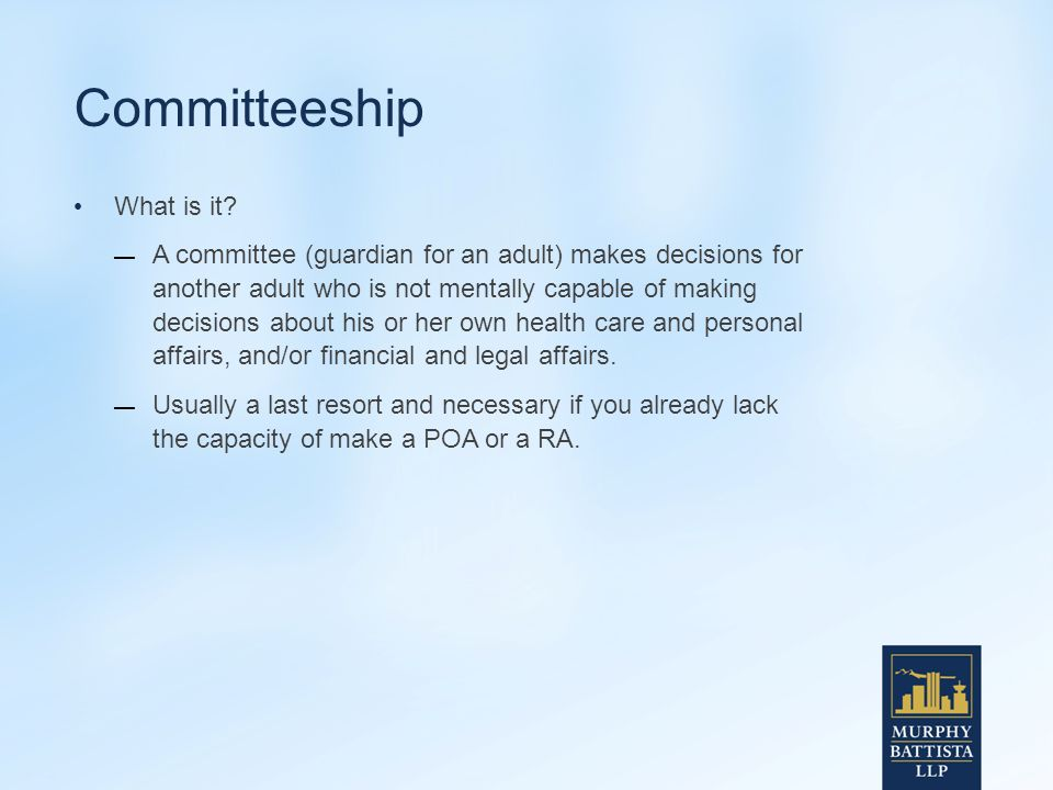 Committeeship What is it.