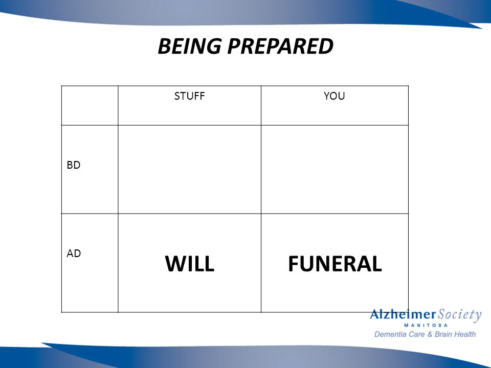 BEING PREPARED STUFFYOU BD AD WILLFUNERAL