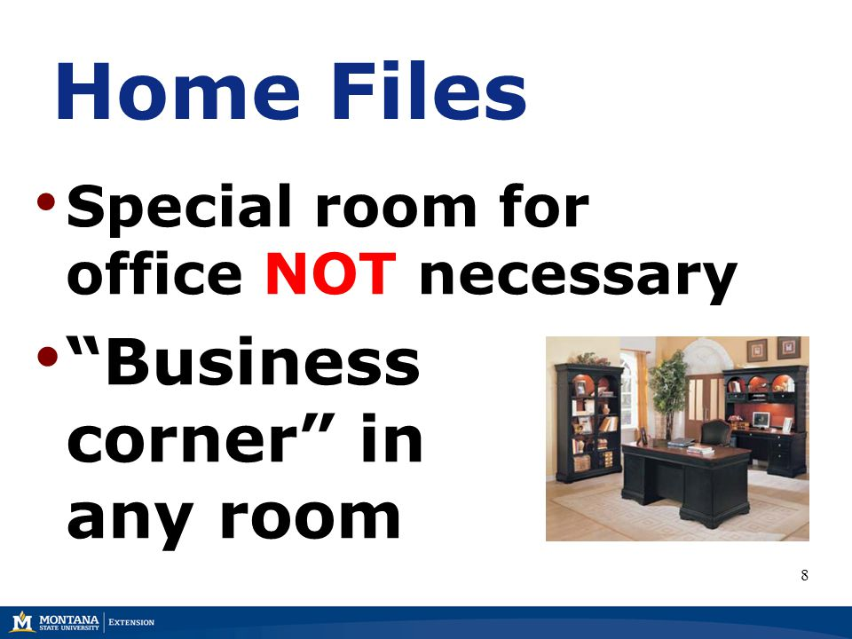 Home Files Special room for office NOT necessary Business corner in any room 8