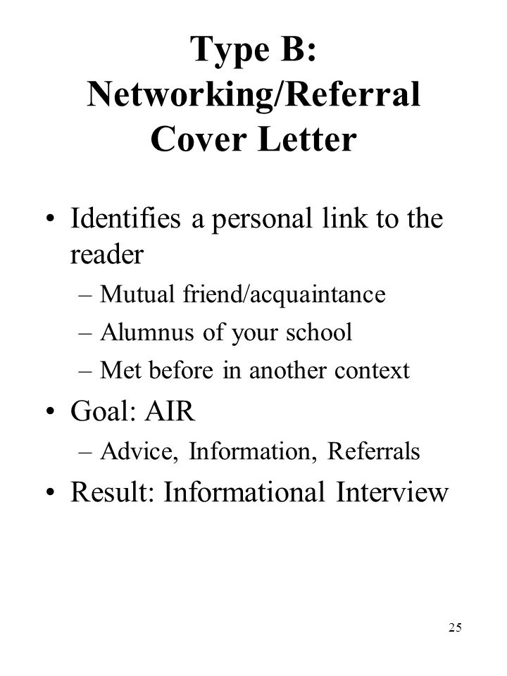 cover letter with referral from mutual acquaintance - Yeder.berglauf ...