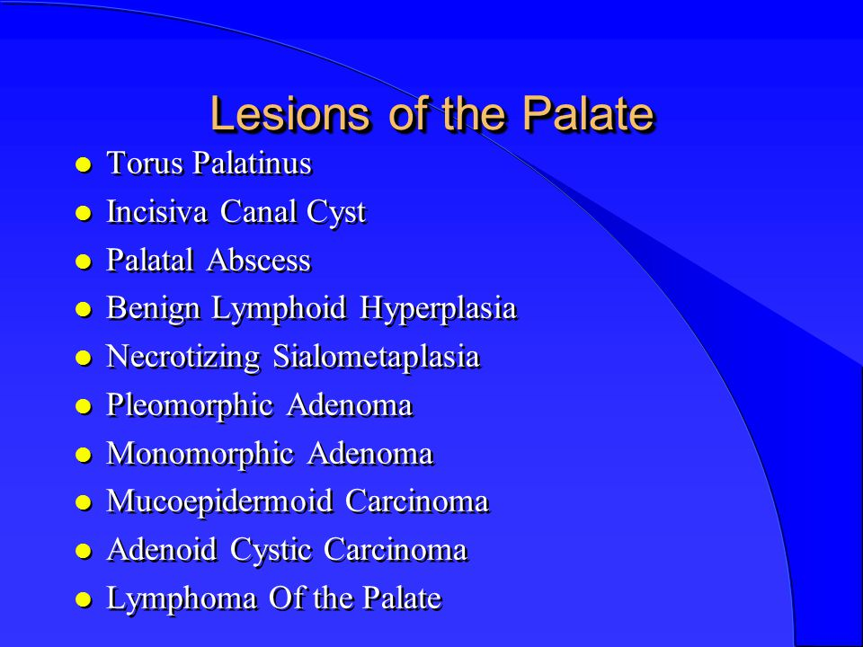 Lesions of the Palate,Tongue, Floor of the Mouth Shafa
