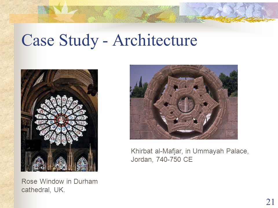 21 Case Study - Architecture Rose Window in Durham cathedral, UK.