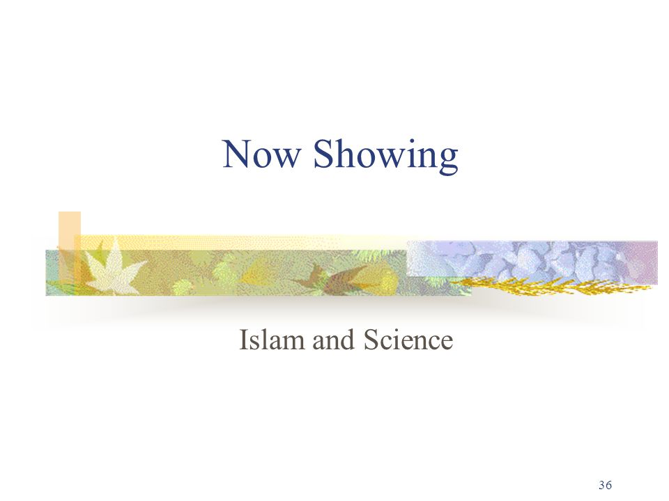 36 Now Showing Islam and Science