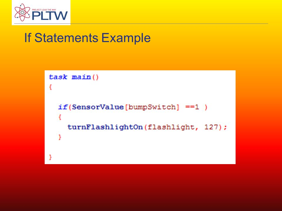 If Statements Example