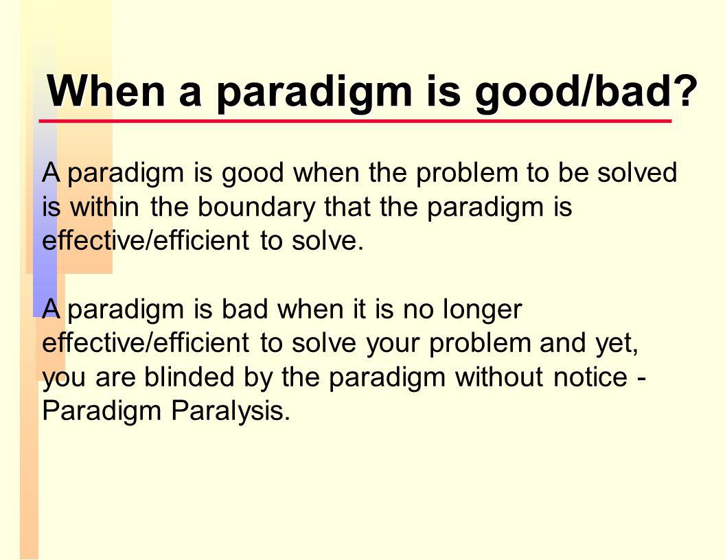 paradigm paralysis