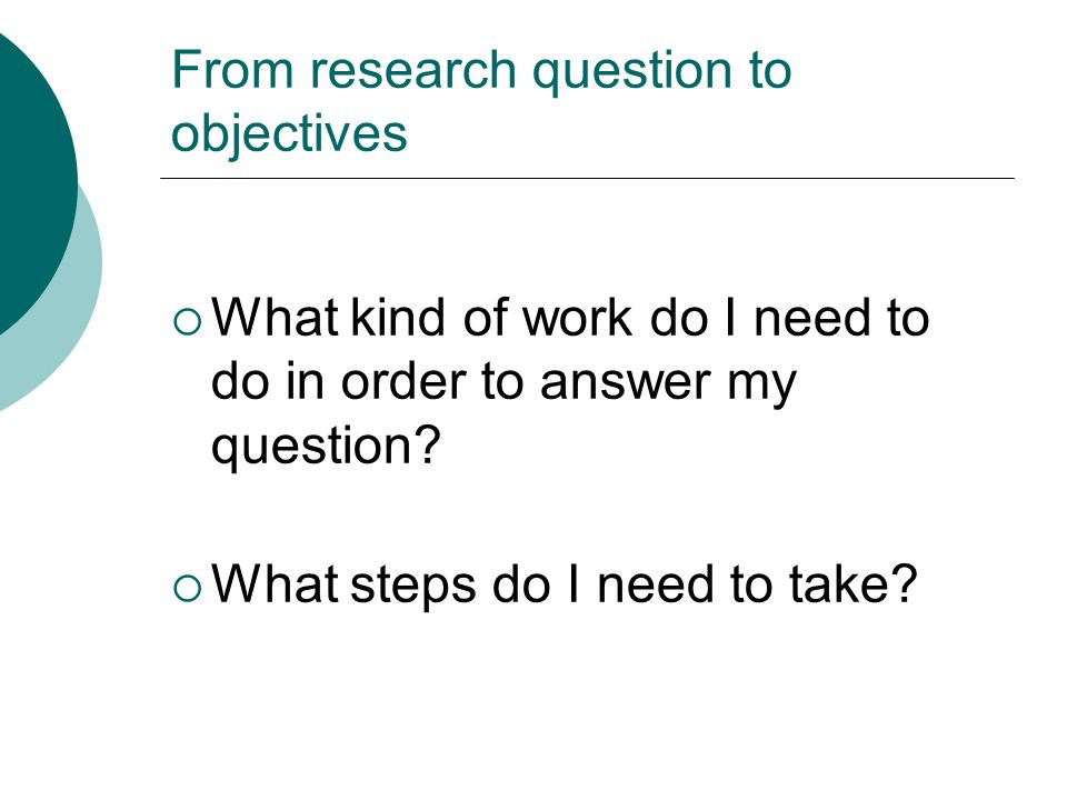 i need a research question