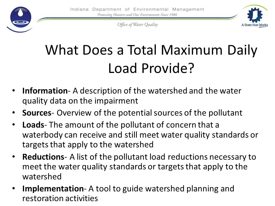 What Does a Total Maximum Daily Load Provide.