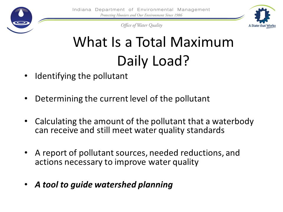 What Is a Total Maximum Daily Load.
