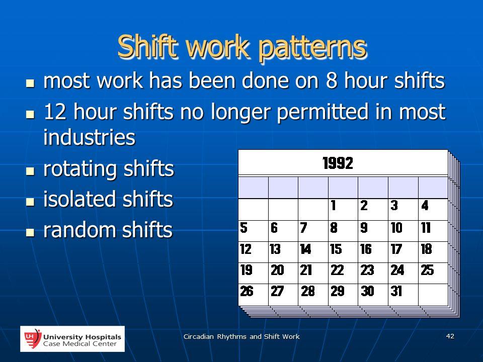 Circadian Rhythms and Shift Work 1 Vicken Y  Totten MD