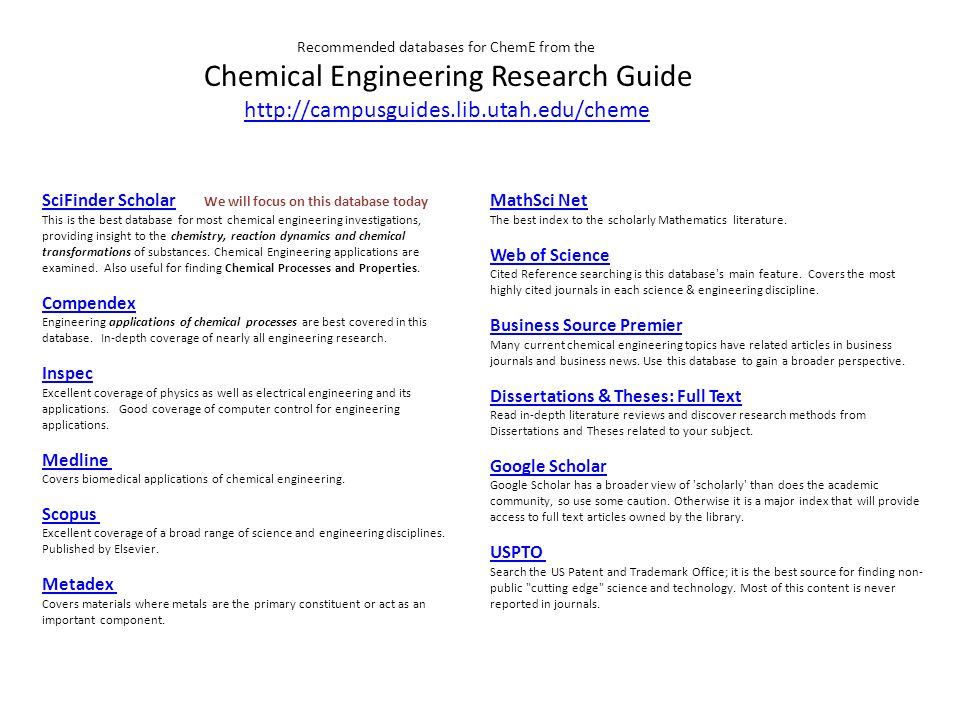 Chemical Information Searching SciFinder Prepared for