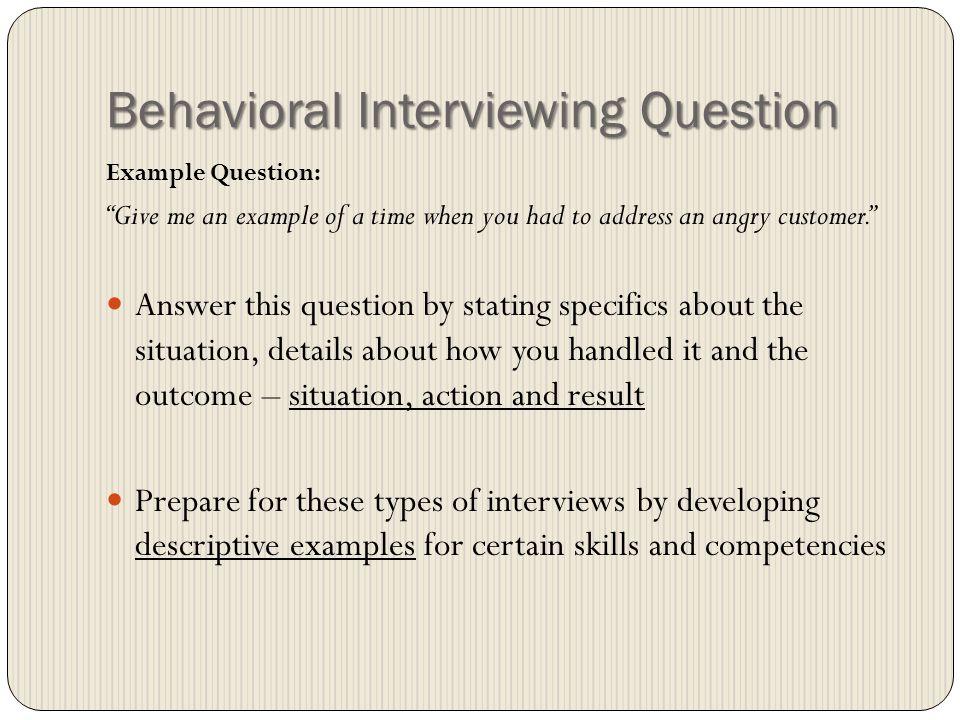 16 behavioral interviewing