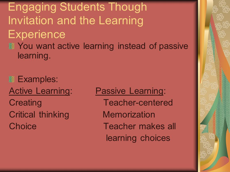 passive learning examples