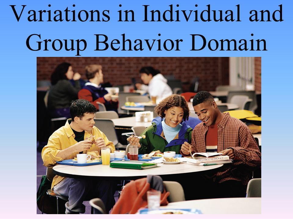 Variations in Individual and Group Behavior Domain