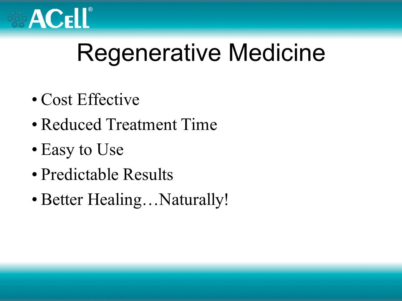 What are the ideal Regenerative Medicine principles? - ppt download