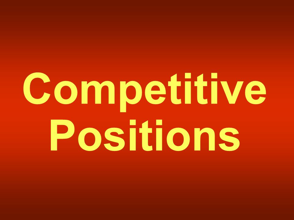 Competitive Positions
