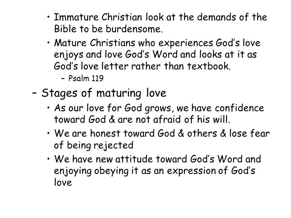 Christian love mature