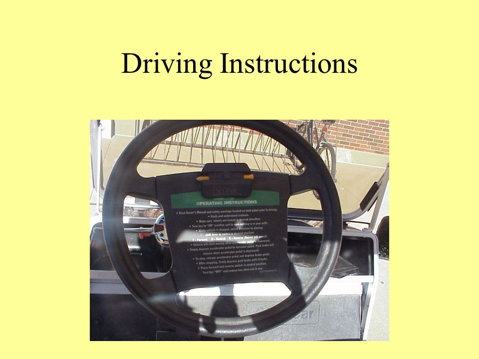 Driving Instructions
