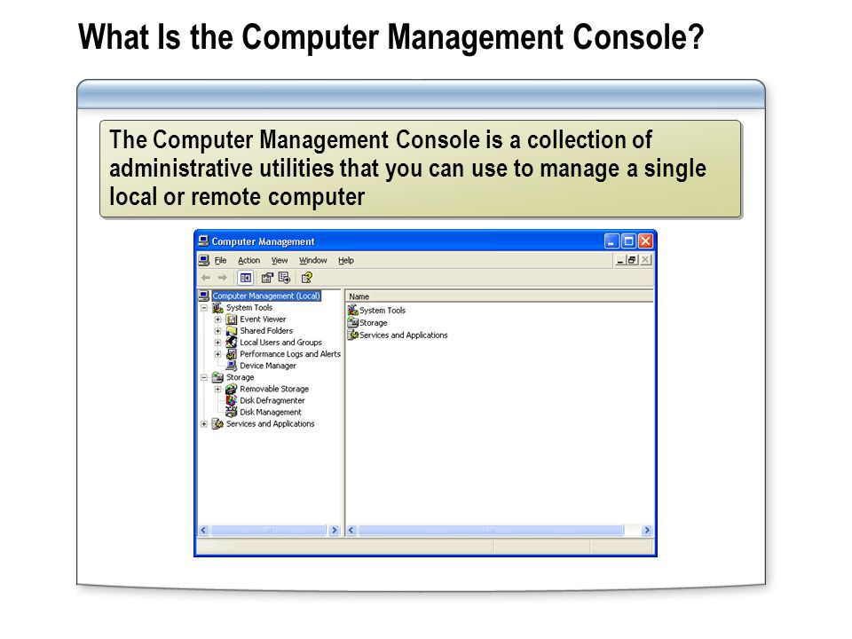 What Is the Computer Management Console.