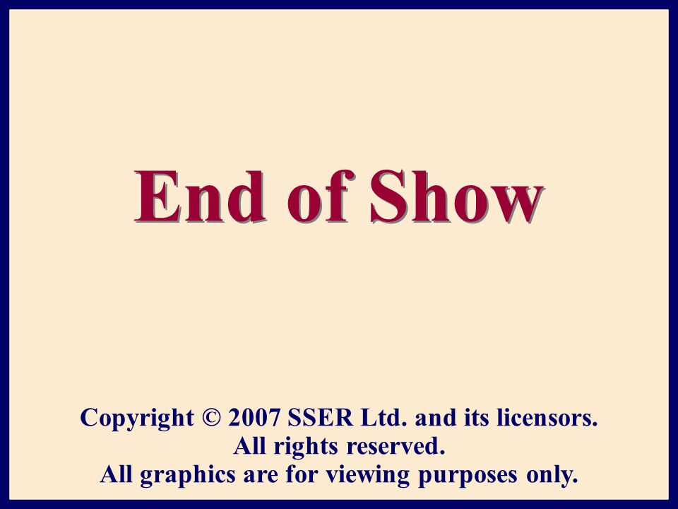 Copyright © 2007 SSER Ltd. and its licensors. All rights reserved.