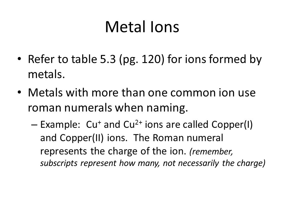 Ionic Charges And Naming Unit 2 Notes Ionic Charges Of The Elements