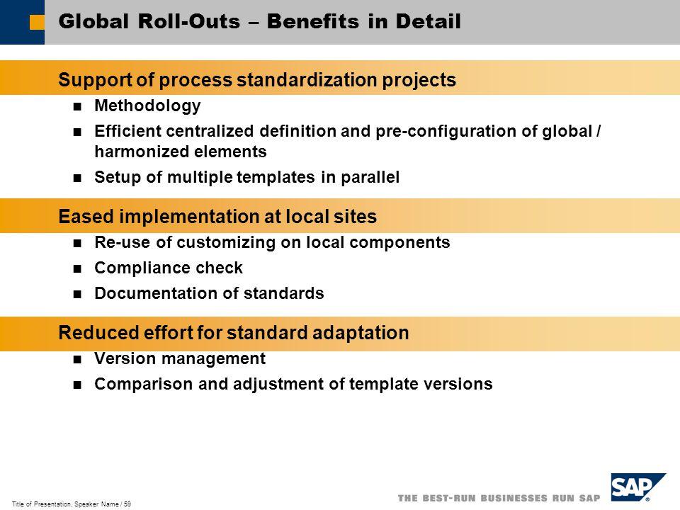 GlobalASAP Implementation Methodology. Title of Presentation ...