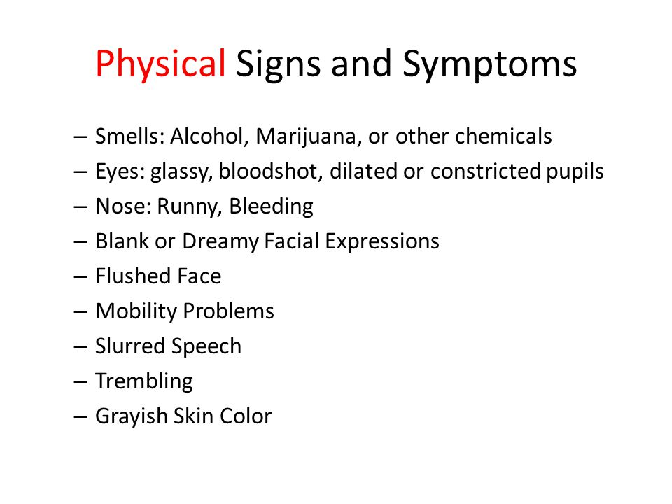 Signs of Substance Abuse Drug Policy and Procedures What you