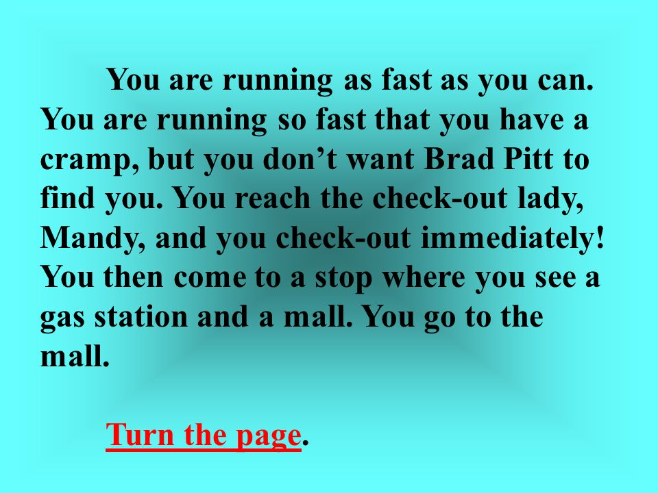You are running as fast as you can.