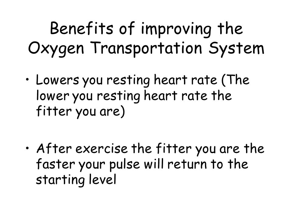 Different Oxygen Intake Increases the size of the heart The size of your lungs will increase Your lung capacity will increase