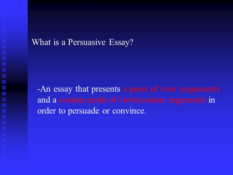 OBJECTIVE THIS week and NEXT week, we will study persuasive essay…