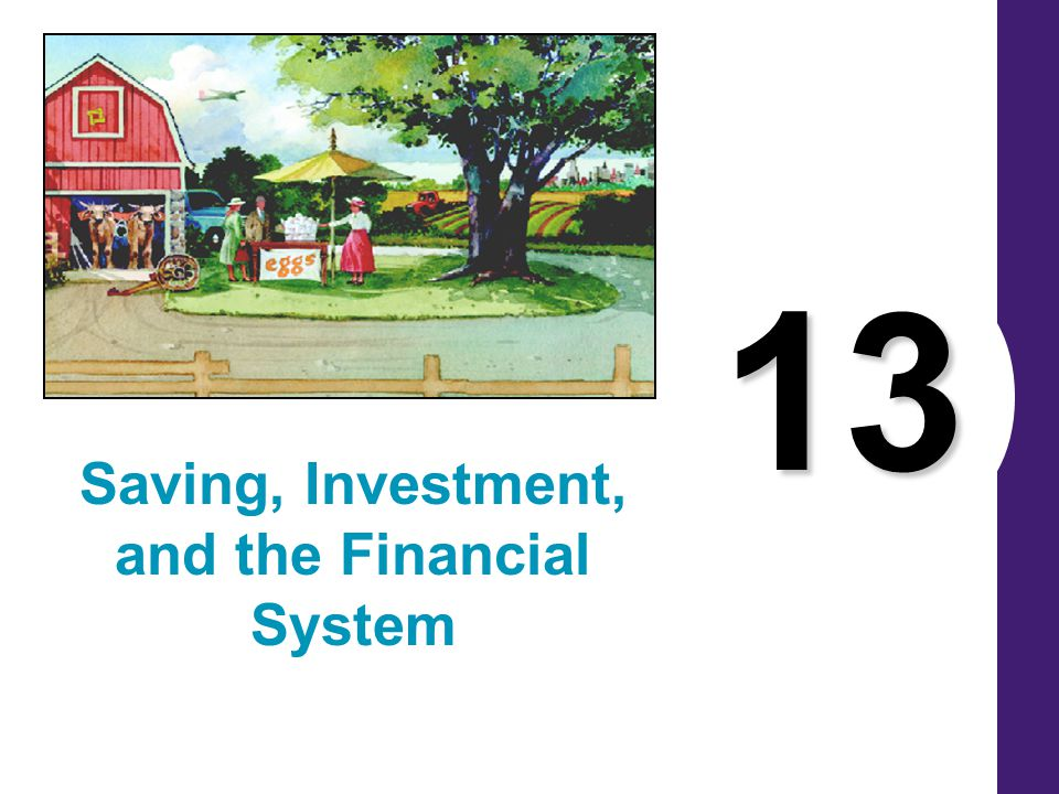 13 Saving, Investment, and the Financial System