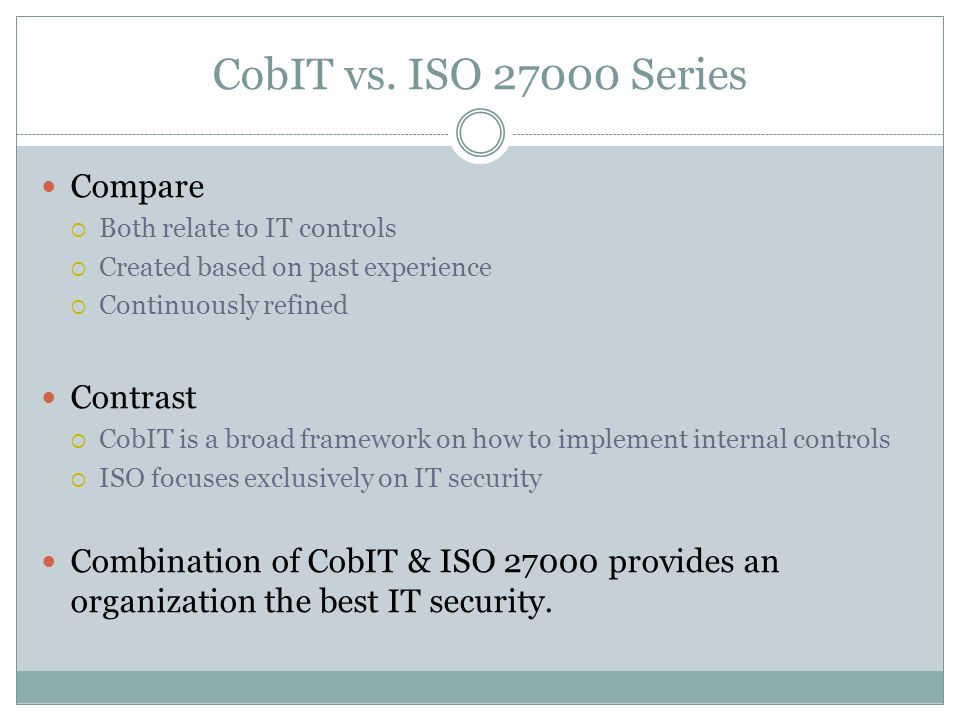 CobIT vs.