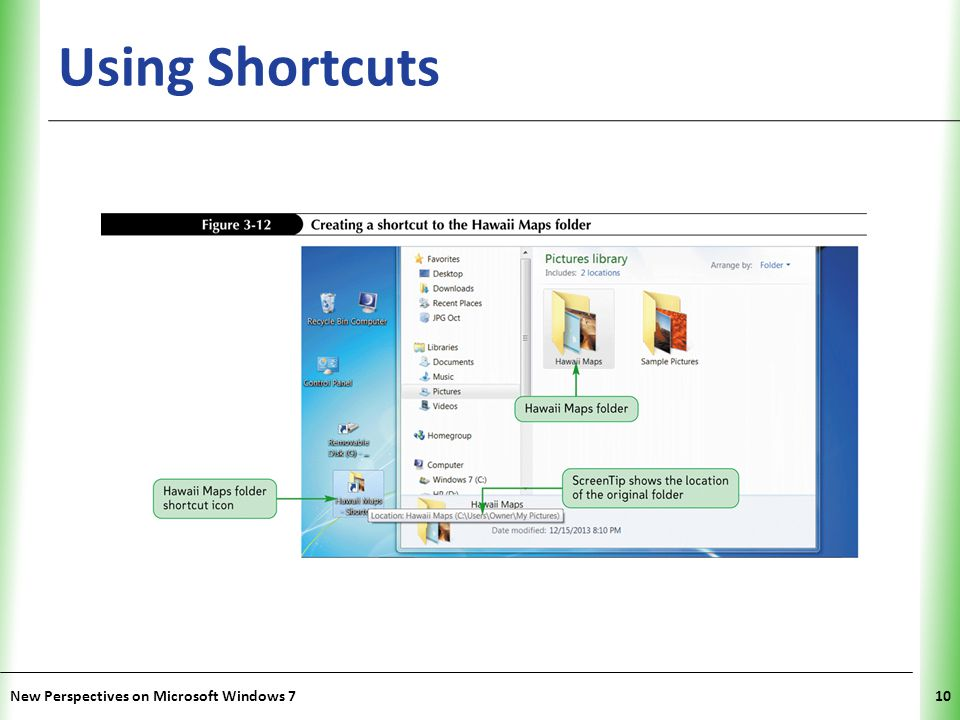 XP Using Shortcuts New Perspectives on Microsoft Windows 710