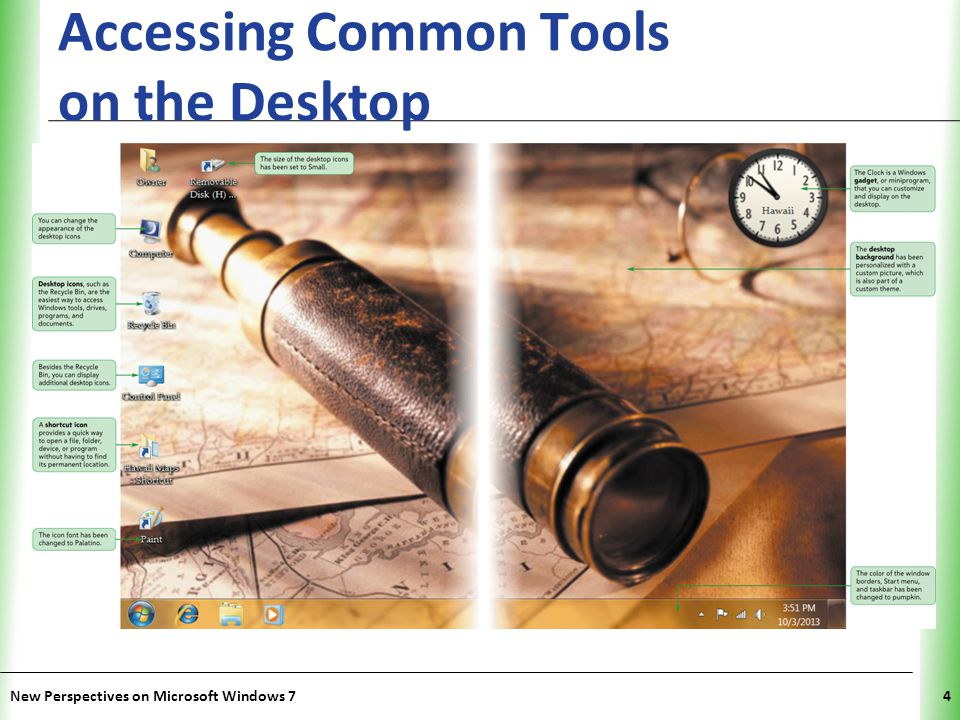 XP Accessing Common Tools on the Desktop New Perspectives on Microsoft Windows 74