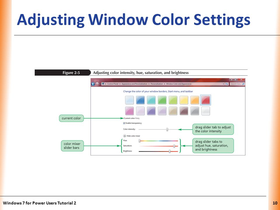 XP Adjusting Window Color Settings Windows 7 for Power Users Tutorial 210