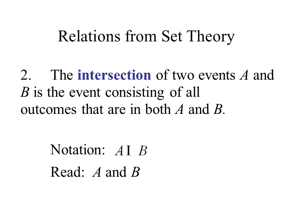 Relations from Set Theory 2.