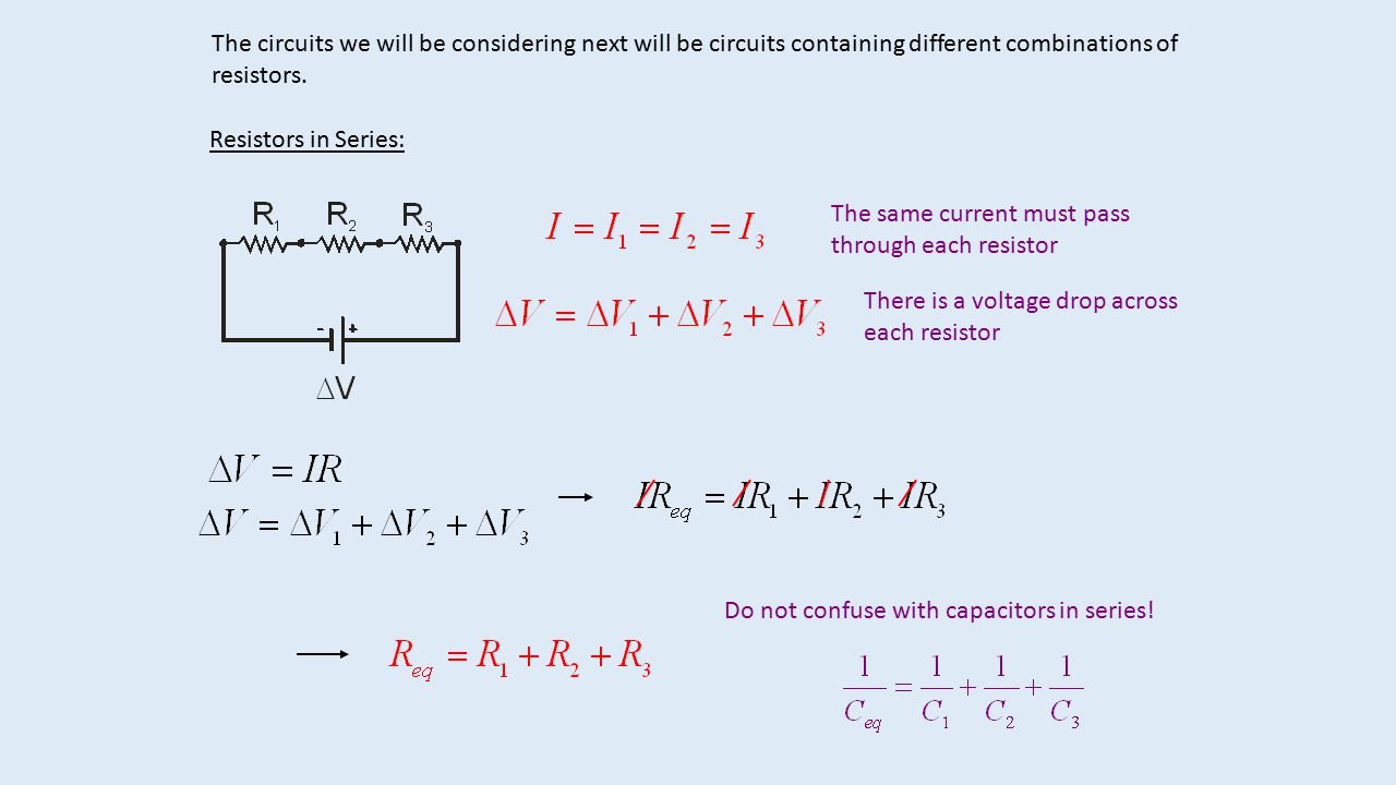 Let Us Now Use This Realistic View Of A Battery In Simple Circuit Resistor Series Not So With Parallel The Voltage Will Circuits We Be Considering Next Containing Different Combinations Resistors