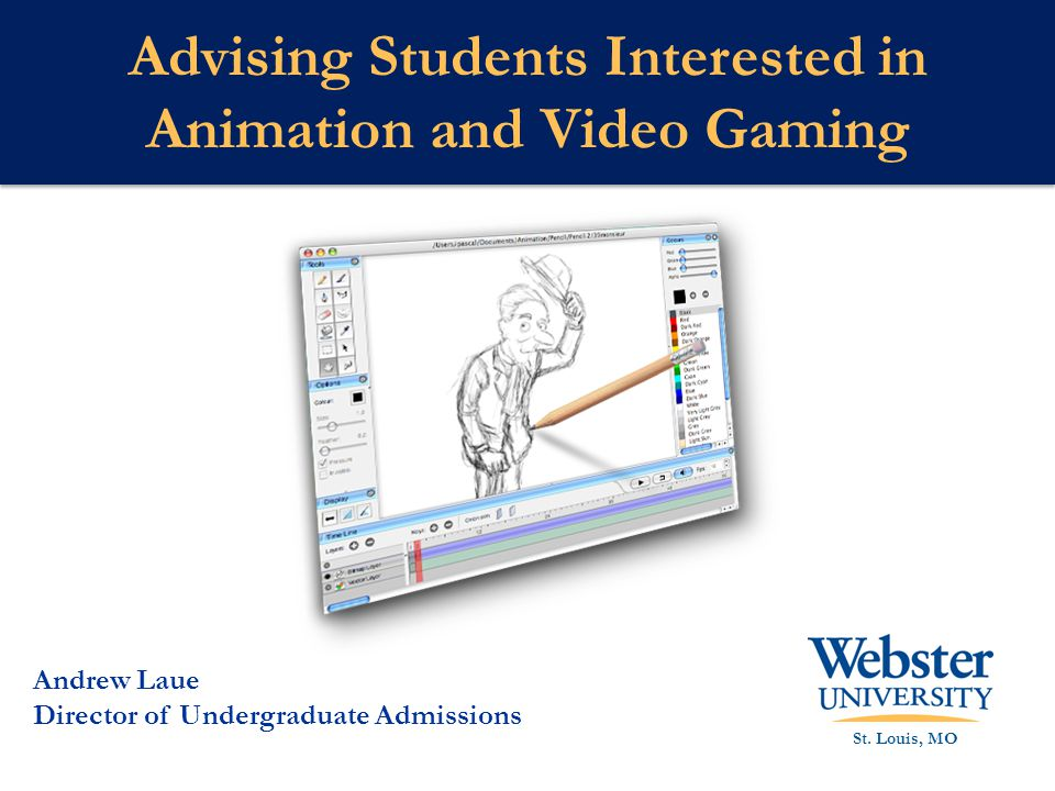 Advising Students Interested in Animation and Video Gaming St.
