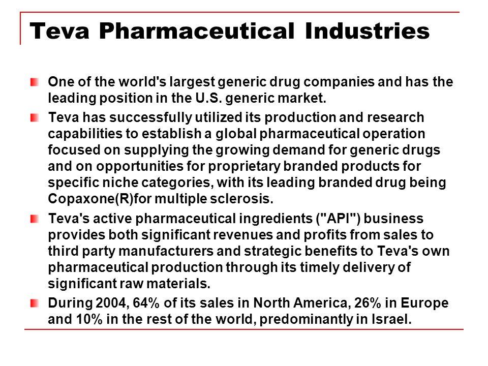 aa5d3e44c52b NAIC Stock to Study for April 2005 Teva Pharmaceutical Industries ...