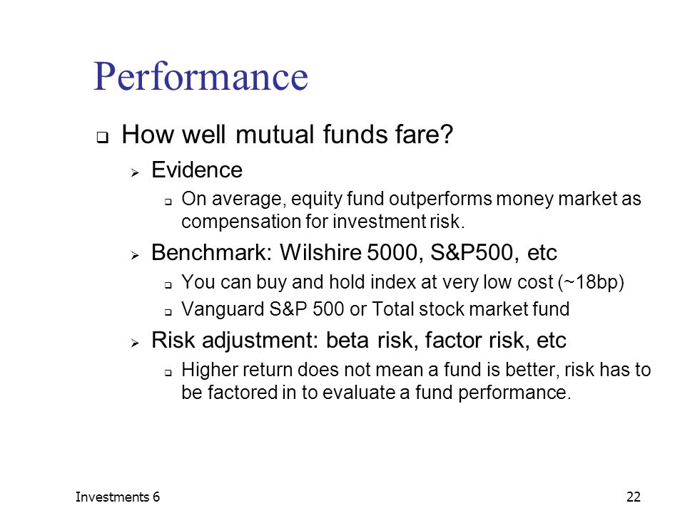 Mutual Funds Basics Types Costs Performance Recent Developments