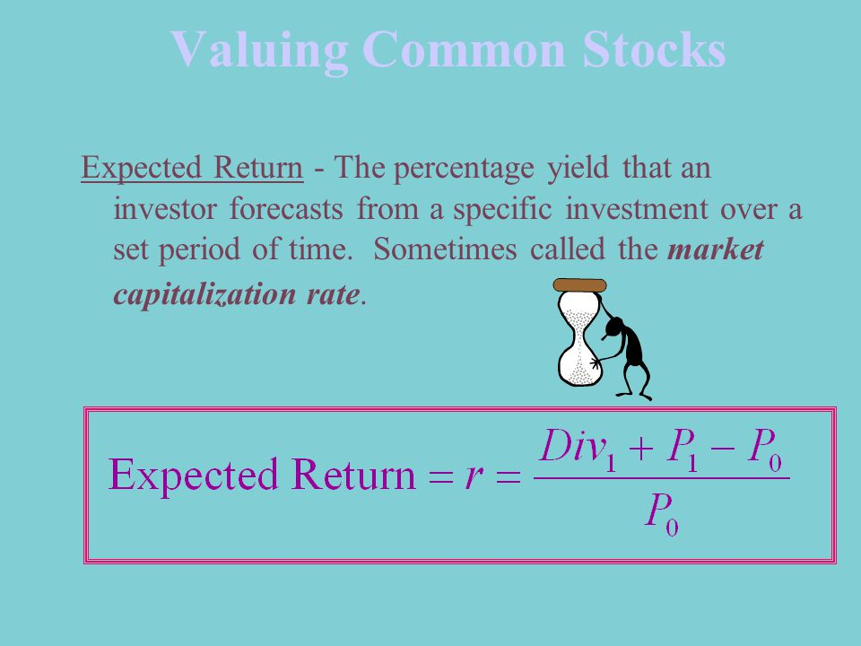 Valuing Common Stocks Expected Return - The percentage yield that an investor forecasts from a specific investment over a set period of time.