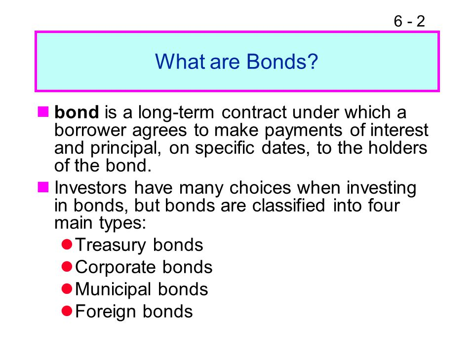 6 - 2 What are Bonds.