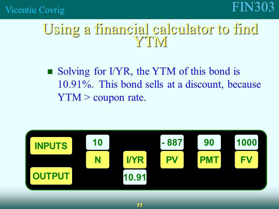 Calculate yield to maturity financial calculator