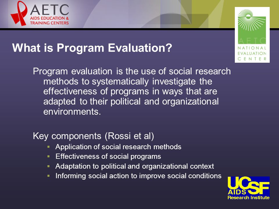 What is Program Evaluation.