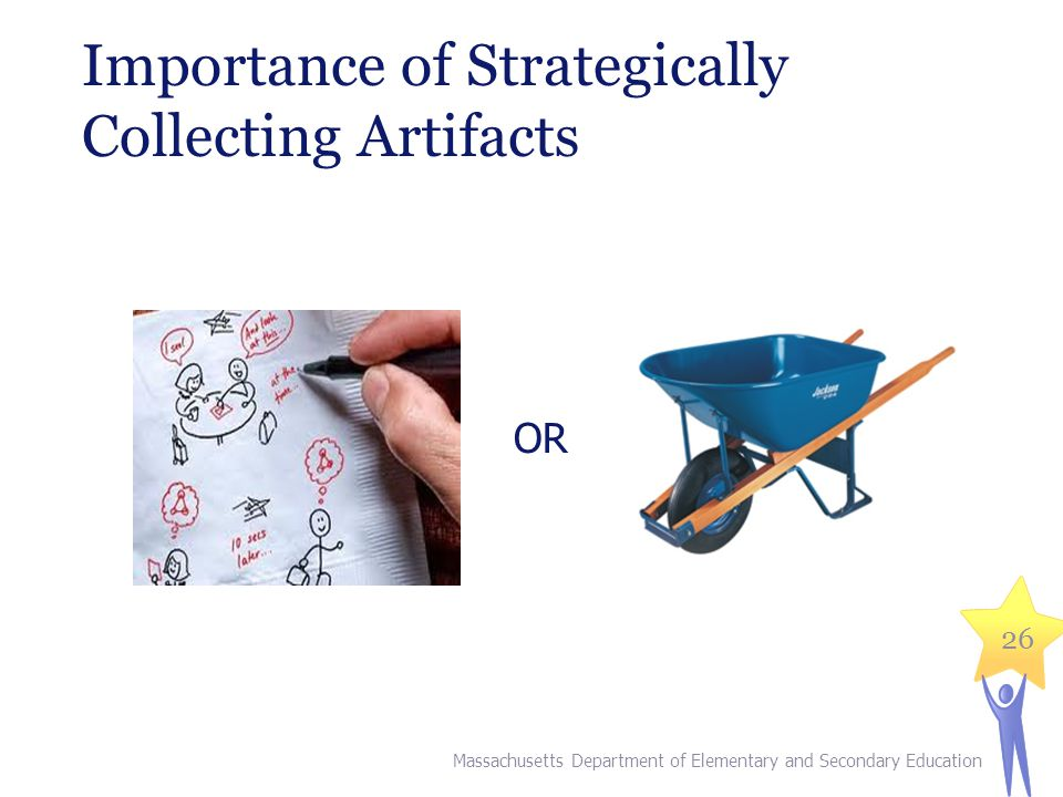 Importance of Strategically Collecting Artifacts OR 26 Massachusetts Department of Elementary and Secondary Education