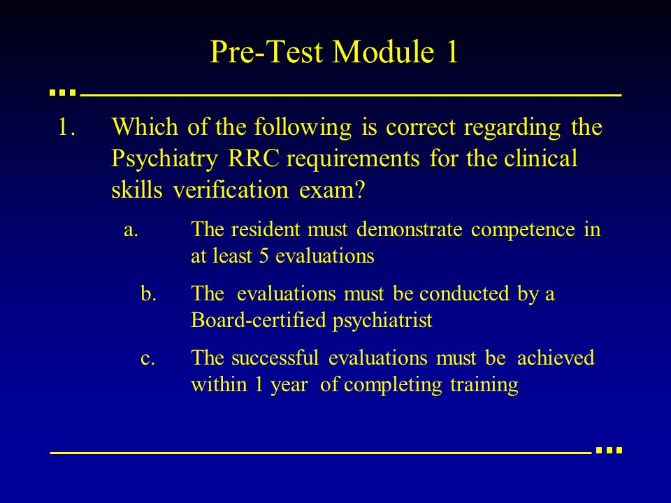 ABPN Task Force on Clinical Skills Verification Rater