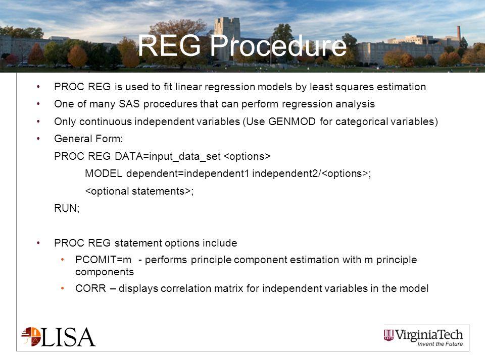 Presentation and Data  Short Courses  Intro to SAS