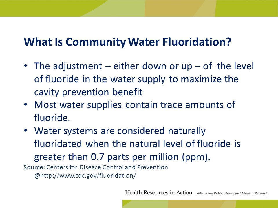 What Is Community Water Fluoridation.