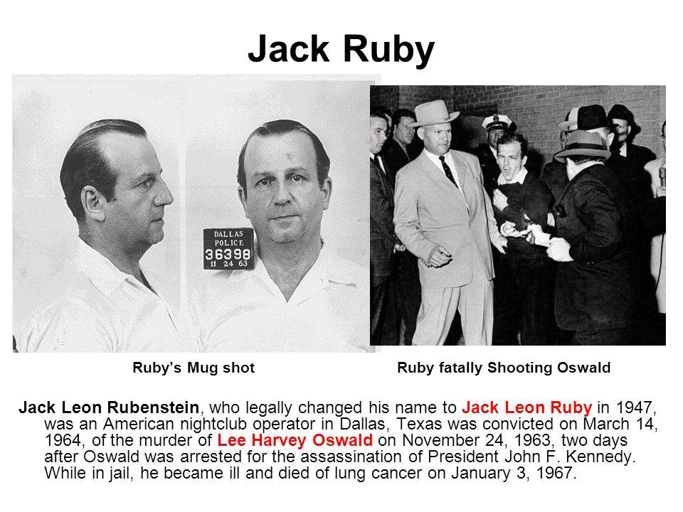 Image result for jack ruby died on this day in 1967