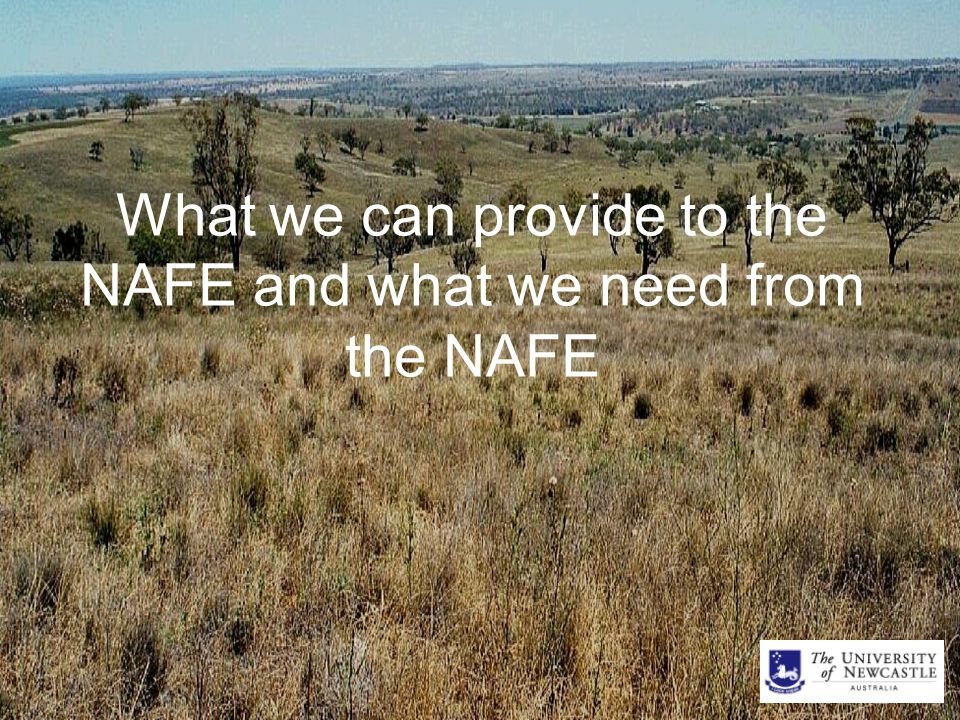 What we can provide to the NAFE and what we need from the NAFE