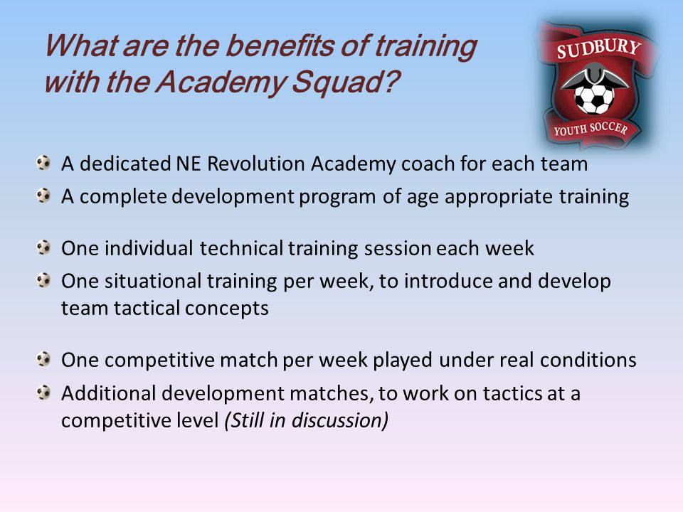 What are the benefits of training with the Academy Squad.